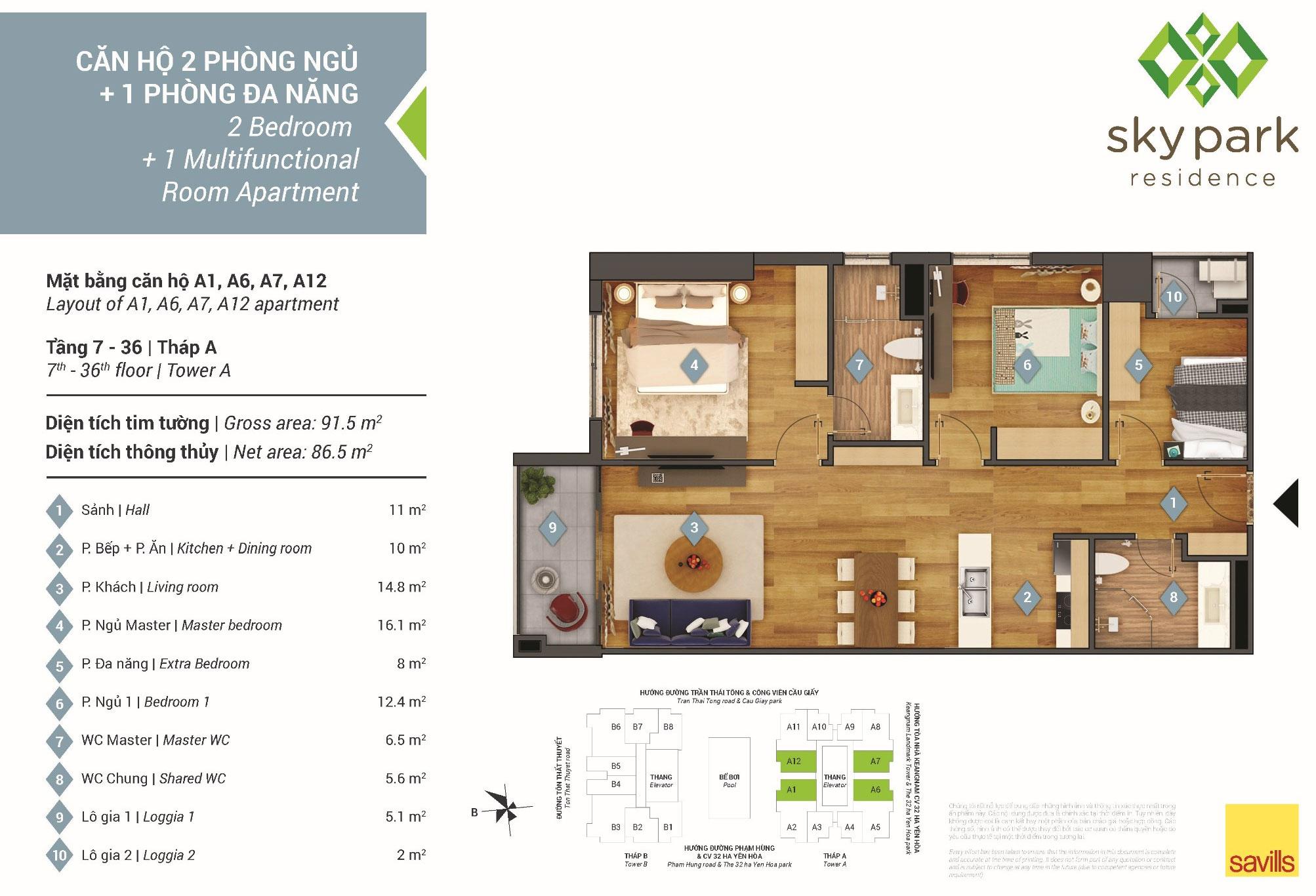 Dự án chung cư Sky Park Residences