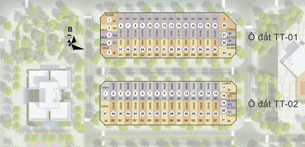 Mặt bằng phân lô dự án liền kề HD Mon City