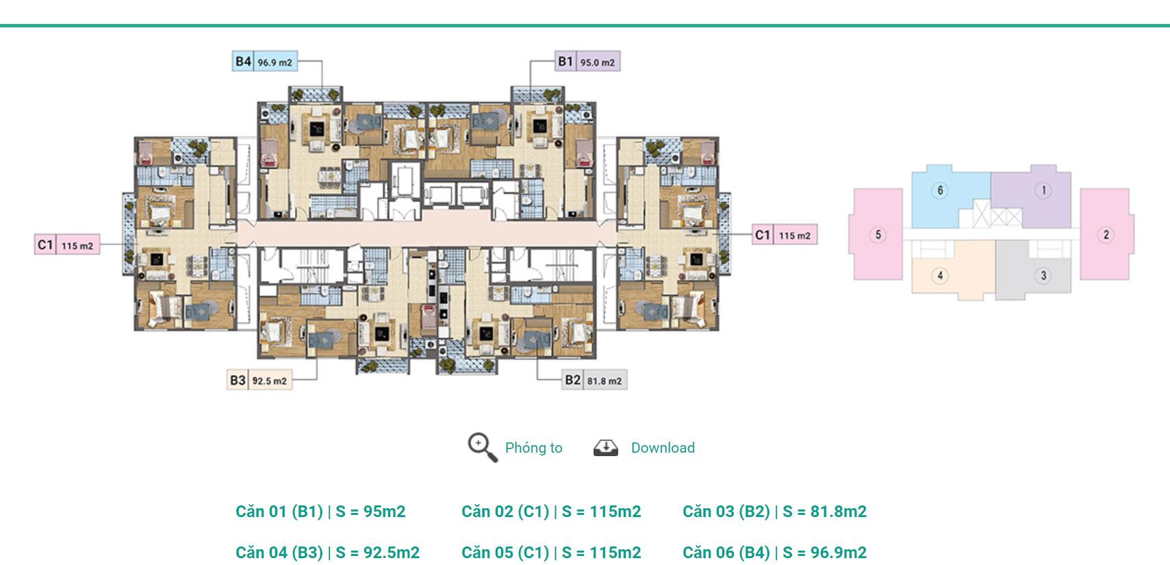 Tầng 3 - 12A Tháp A,B,C chung cư Xuân PhươngResidence