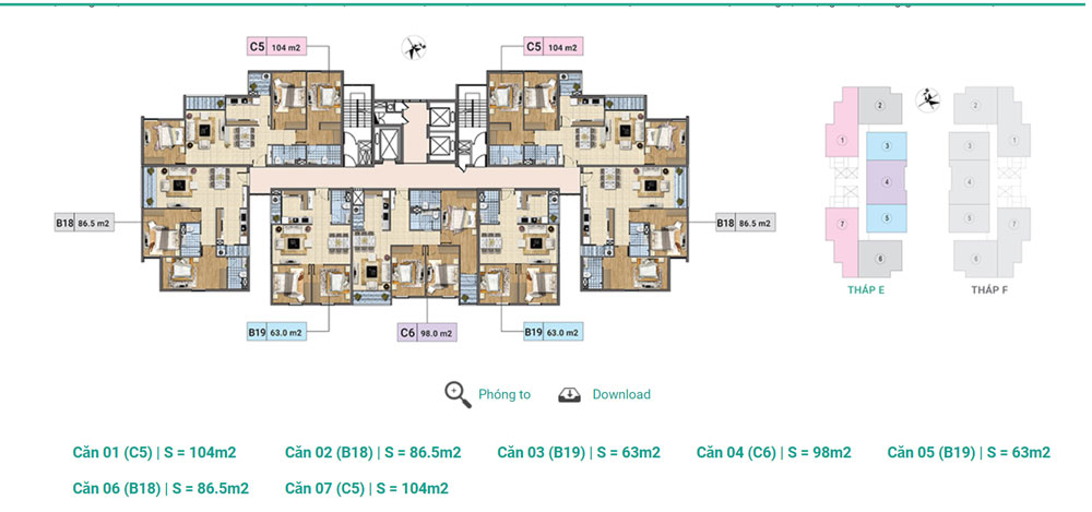 Tầng 3-12A Tháp E Chung cư Xuân Phương