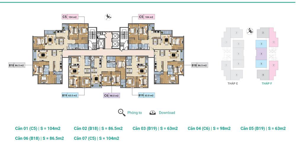 Tầng 3-12A Tháp F chung cư Xuân Phương