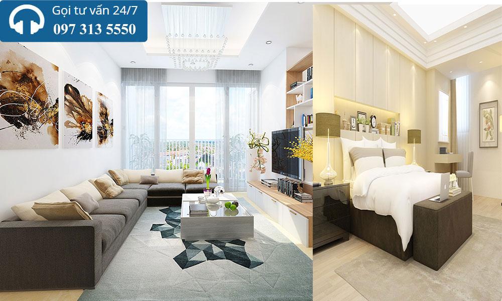 Thiết kế nội thất chung cư Xuân Phương