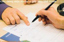 Giấy chứng nhận đăng ký kinh doanh và giấy chứng nhận đầu tư có khác nhau không