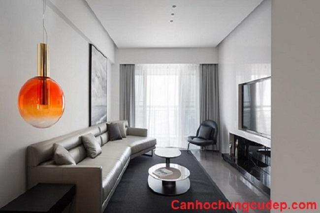 Thiết kế tinh tế của căn hộ màu trắng chủ đạo