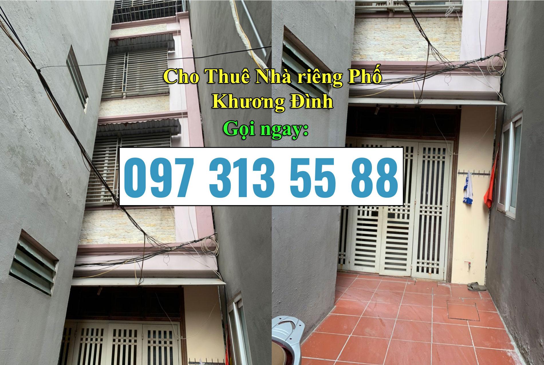 Cho thuê nhà phố Khương Đình Thanh Xuân, Hà Nội